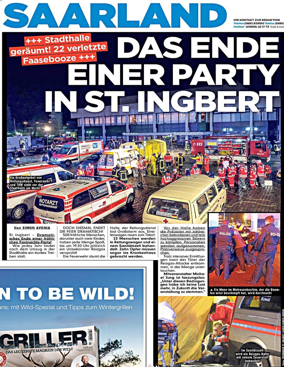 Bild Zeitung Ausgabe Saarland 13. Februar 2018