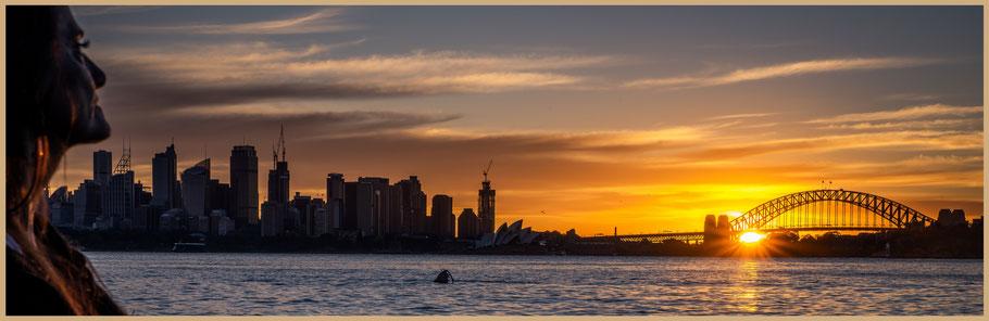 Australien, Australia, Reisebericht Australien, Reisebericht NSW, Reisebericht Sydney, Sunset Sydney, Opera, Harbour Bridge, Sunset Breadley's Head, Breadleys Head, Atoll Beach