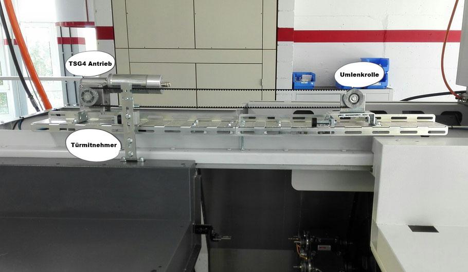 Schutztürantrieb, TSG4, Kämpferblech, Schutztür Antriebe, Türöffner