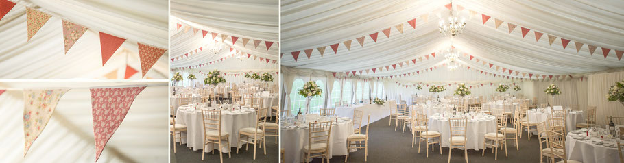 dusky pink wedding bunting flags for hire marquee party cornwall