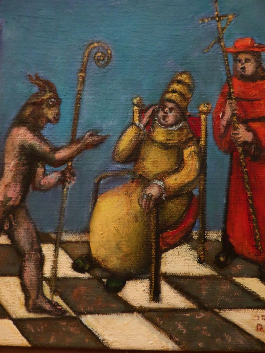 Die Begegnung 2007 – 2010, Öl auf Leinwand, 30 x 24 cm