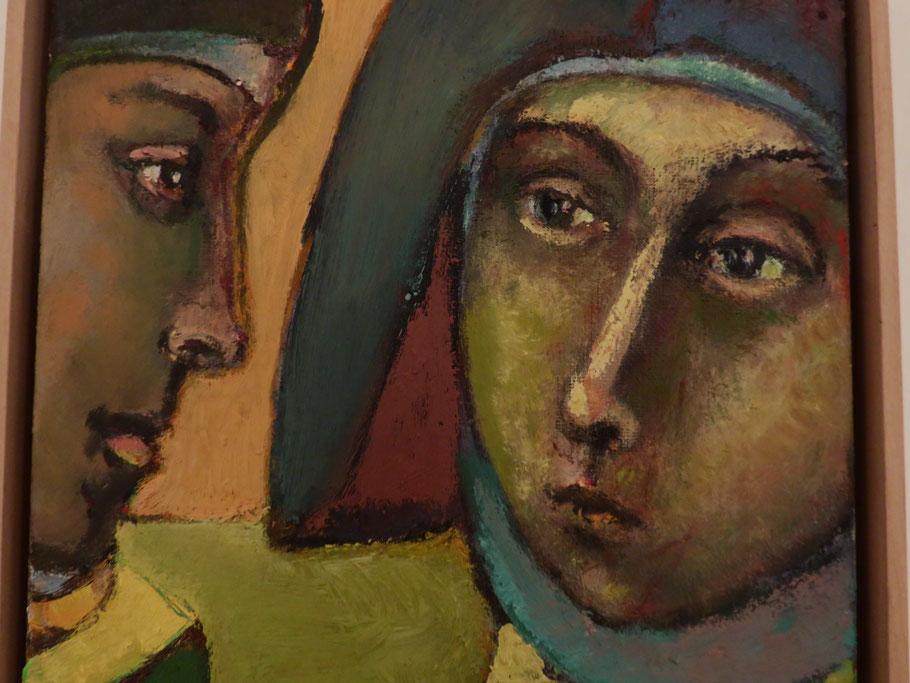 Madrigal 2014, Öl auf Leinwand, 25 x 25 cm