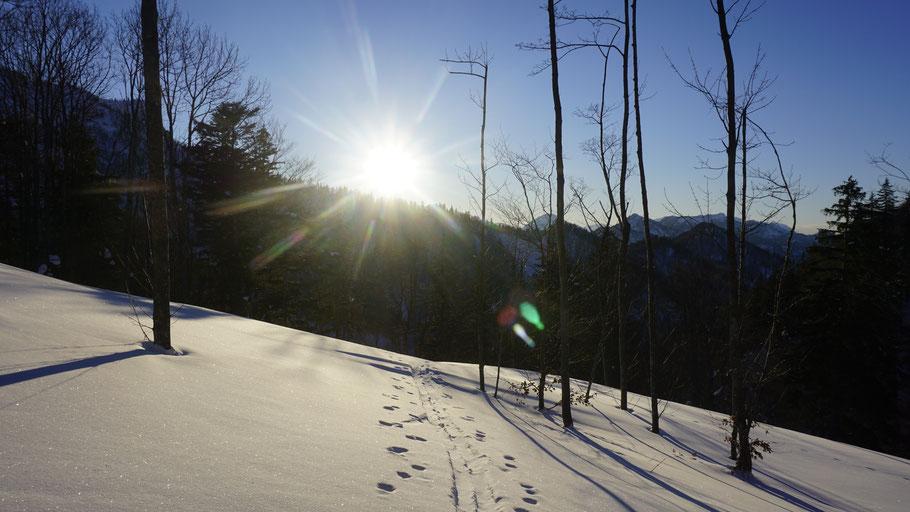 berghundtal, kasberg, alpen,salzkammergut,skitour,sonnenuntergang,oberösterreich