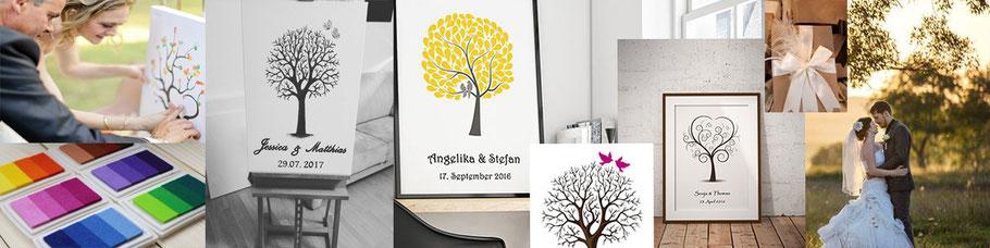 wedding tree und gästebuch plannung Hochzeitsgeschenke hochzeitsbaum und Einladungskarten