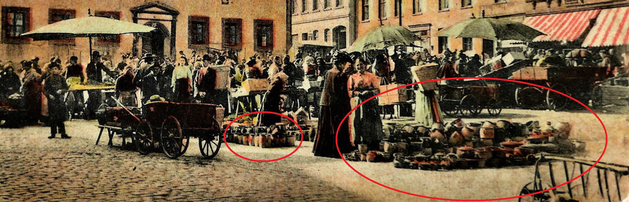 Meerane Wochenmarkt 1904