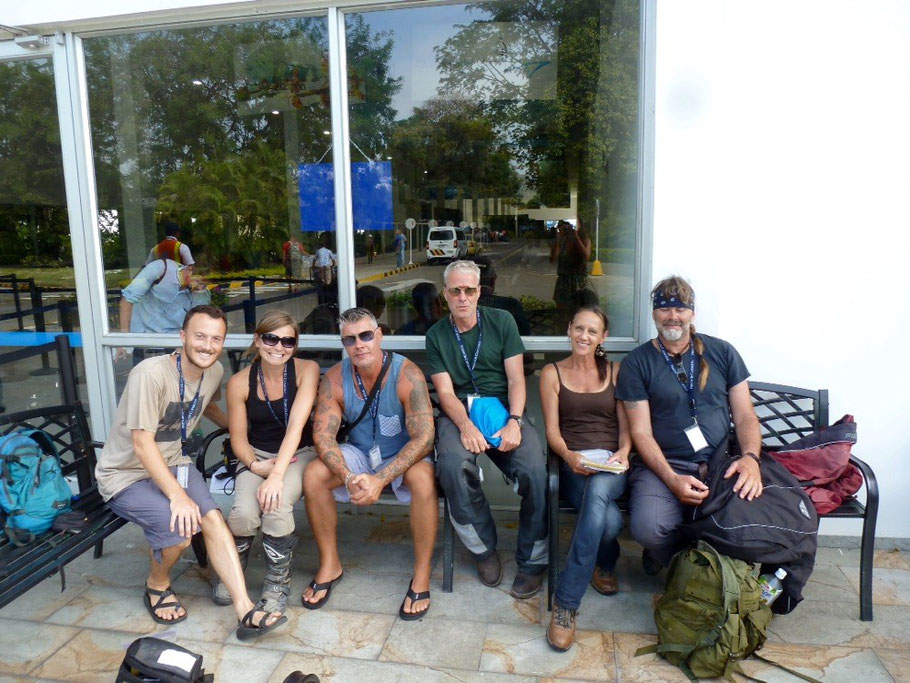 "Our ""ferry family"" on the other side - in Colombia!"