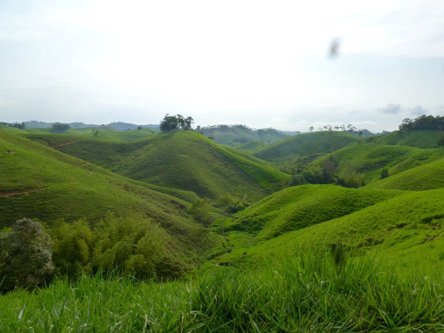 Rolling hills of rural Colombia