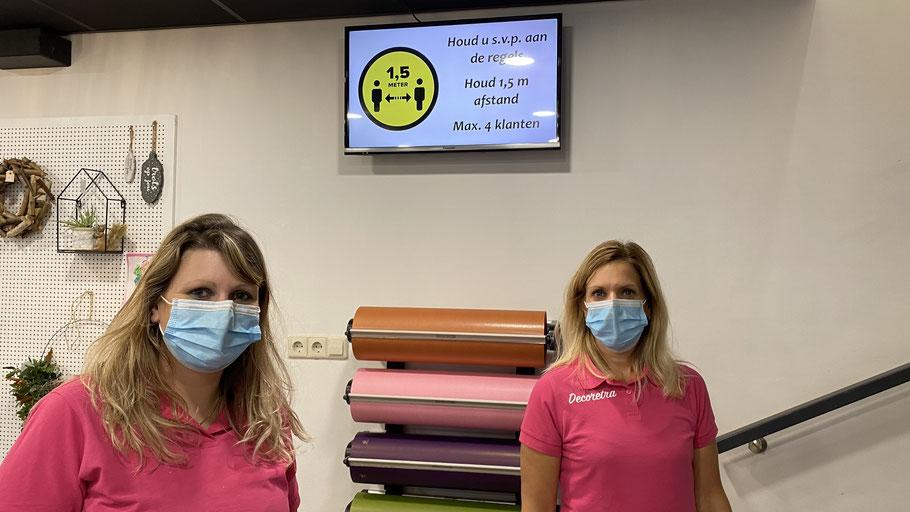Wij dragen een mondmasker voor jou. Draag jij er ook een voor ons?