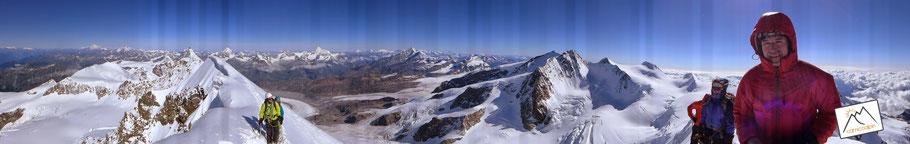 Monte Rosa - vom Liskamm aus gesehen...