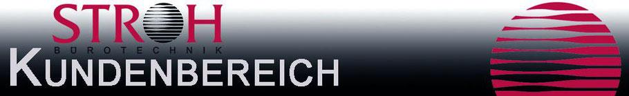 Titelbild Überschrift Kundenbereich Bürotechnik Stroh GmbH Homepage online Kundenbereich