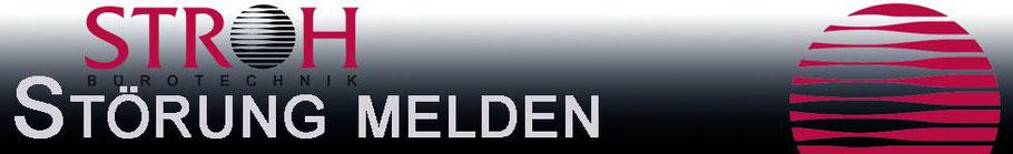 Titelbild Überschrift Störungen und Probleme Ihrer Drucker, Kopierer, Multifunktionsgeräte melden, Bürotechnik Stroh GmbH