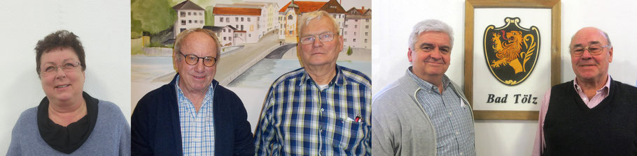 v.l.: Damensiegerin Margit Gramsall, der Herrenzweite Günther Aehlig, der Erste Wolfgang Kokartis und die Senioren Karl-Heinz Walle´ (3324) und Gunter Herber (3481)