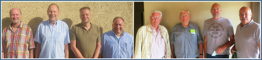 links:  Gesellige Runde Bad Tölz - Rainer Holl (3531), Albert Vosseler (4101), Sebastian Kleffner (2979), Ralf Mayer (3420)-----------rechts: Tegernseer Tal e.V.  - Werner Wilke (3309), Wolfgang Kokartis (3848), Peter Seidler (3124), Detlev Münnich (2534)