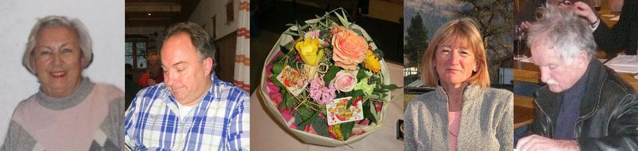 Blumen für unsere erfolgreichen Damen: v. l. Erika Köppl, Ralf Mayer, Gisela und Alfons Reiter