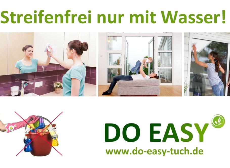 Streifenfrei Fenster putzen nur mit Wasser, Fensterputztuch, All in One Putztuch, Putztuch für Hochglanzküchen, Putztuch für alle Oberflächen