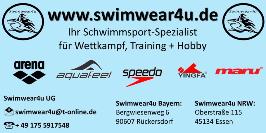 Swimwear4u - Ihr Schwimmsport Spezialist für Wettkampf, Training und Hobby