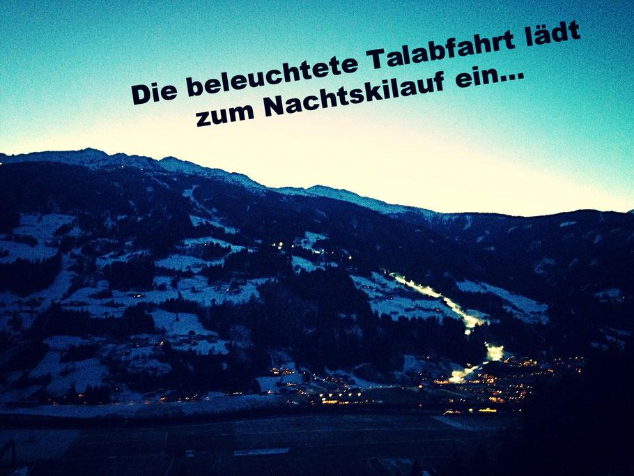 Ein Bild vom Emberg... hier sieht man die toll beleuchtete Talabfahrt die zum Nachtskilauf einlädt!