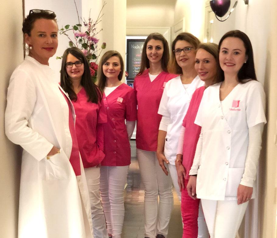 Das Team der Hautärztin am Gänsemarkt, Dr. med. Wiebke Petzoldt