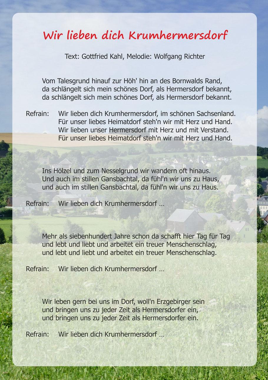 Wir lieben dich Krumhermersdorf