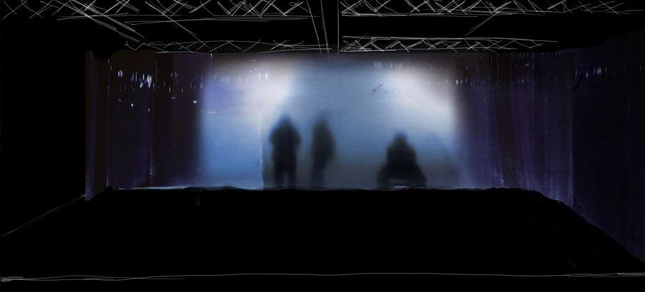Bühnenbild Entwurf