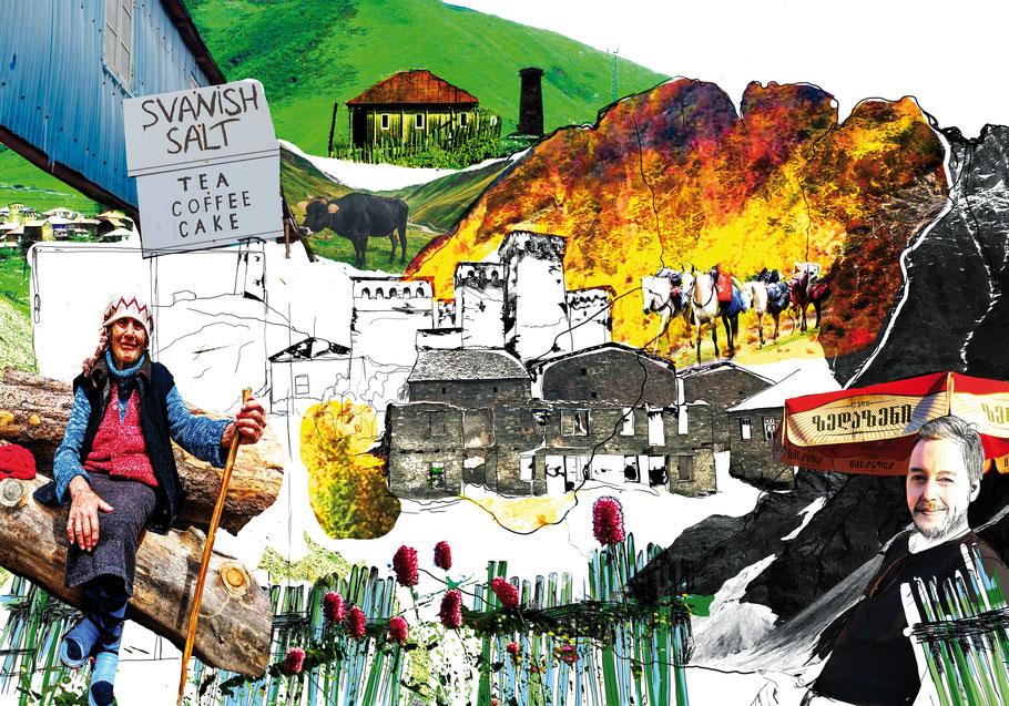 Georgien. Eine literarische Reise mit Illustrationen von Julia B. Nowikowa