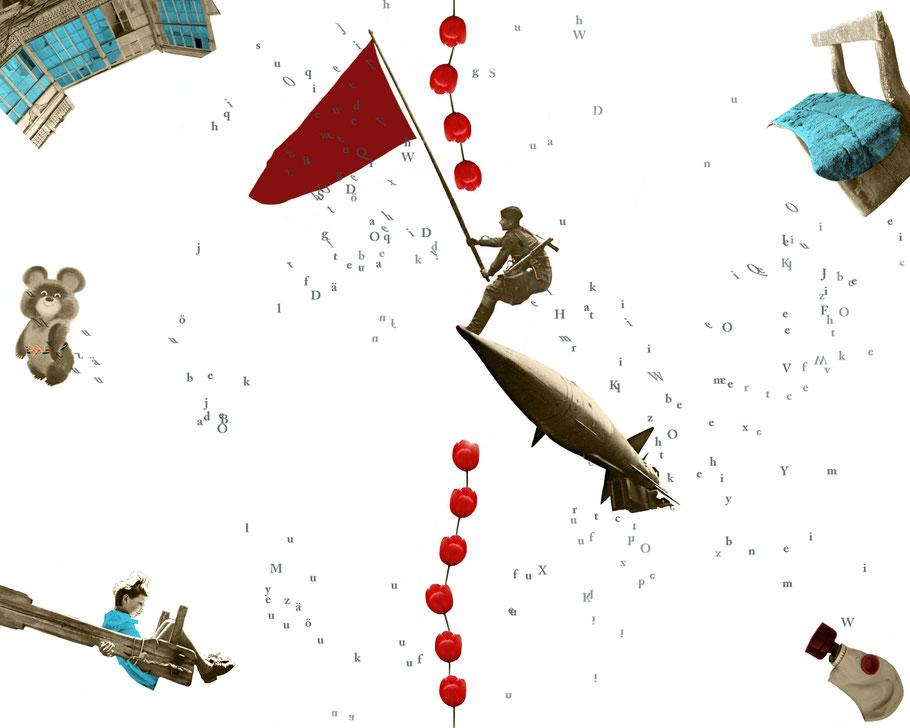 Das Achte Leben. Für Brilka. Coverdesign, ©Julia Bührle-Nowikowa, The Eighth Life. For Brilka, Das achte Leben. Für Brilka, Umschlaggestaltung mit Illustration, Collage von Julia B. Nowikowa