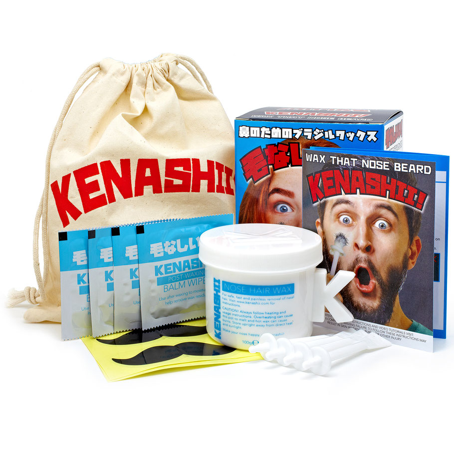Nose Waxing Kit From Kenashii, Wax, Applicators, Balm Wipes and Instructions