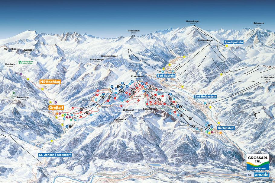 Skischaukel Großarltal-Dorfgastein in Ski amadé