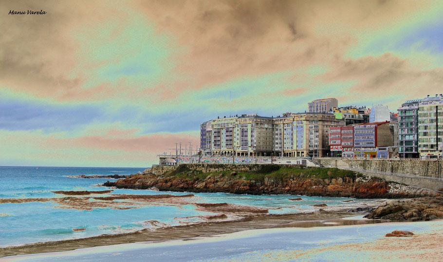 Paseo marítimo y playas Orzán - Matadero (La Coruña)