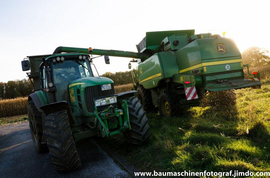 Mais dreschen 2014 durch die LU's Booke und Laumann