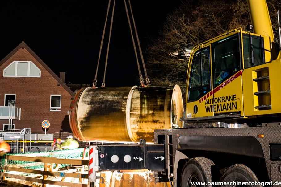 Bilder vom Ausheben der Tunnelbohrmaschine in der Zielgrube sind online!