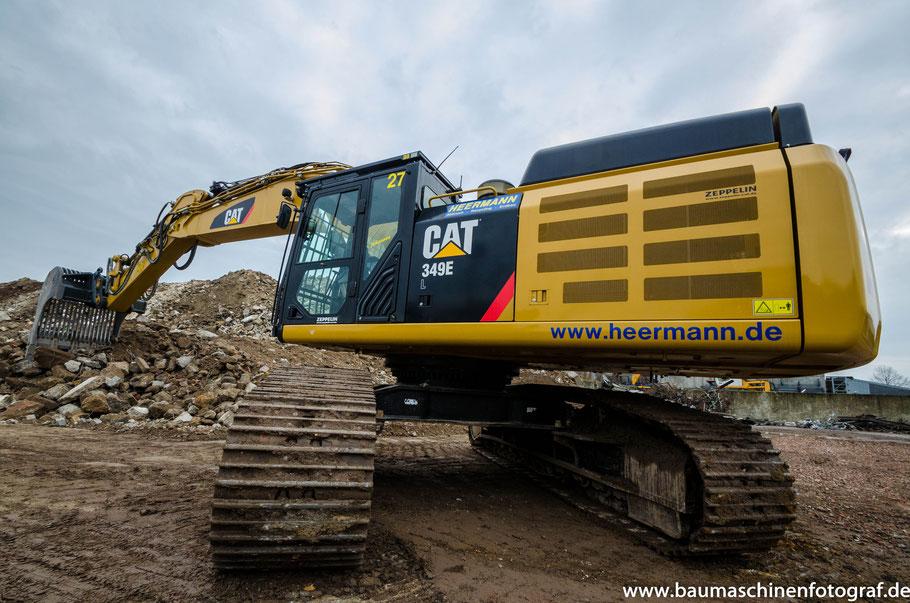CAT 349E der Firma Heermann Abbruch