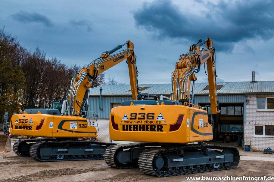 LIEBHERR R936 und R926 für die Firma H&W Tiefbau aus Marl