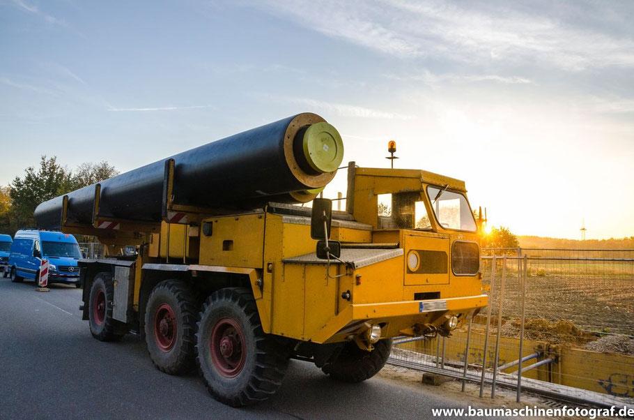 Verlegung von zwei 800er Fernwärmetransportleitungen in Marl