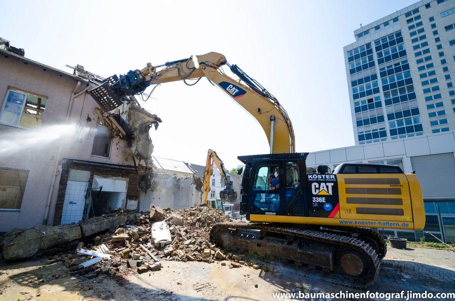Startschuss für den Abbruch des ehemaligen Volksbankgebäude an der Berg-/Victoriastraße in Marl Hüls