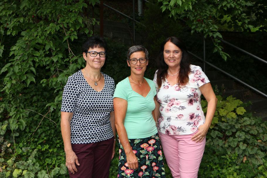 Ruth Amstalden,  Heidi von Ah,  Edith Wallimann