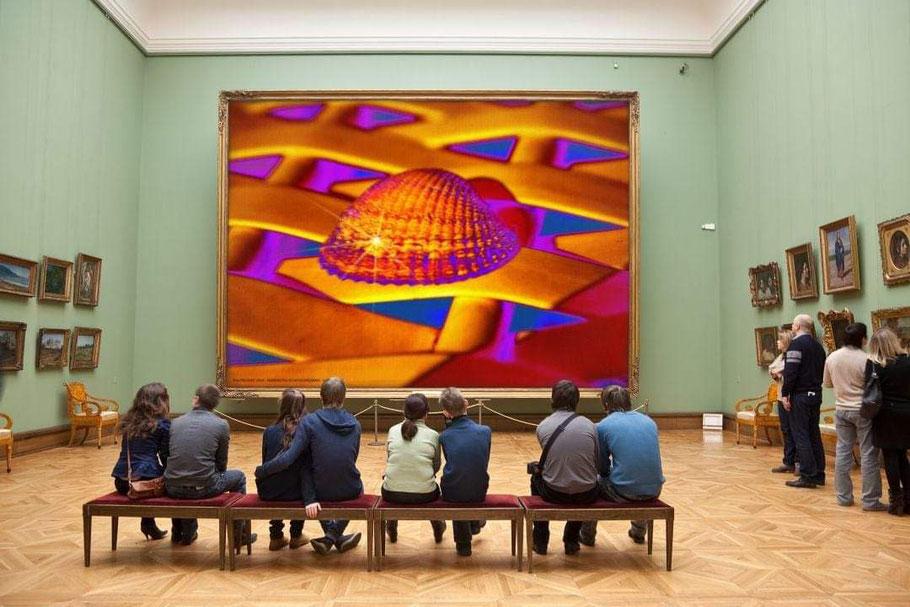 Ausstellungskonzepte für INSIDE LOOKING OUT- hz30 Kunstfotobilder  ->  hier: Louvre Paris