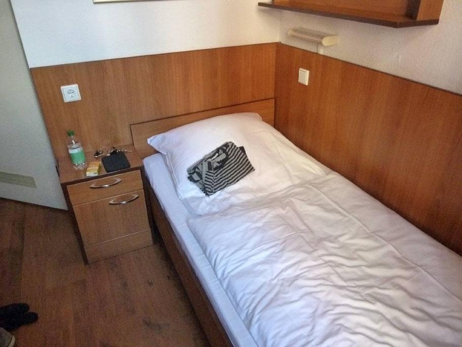 Die Zimmer waren daher etwas einfacher gehalten.