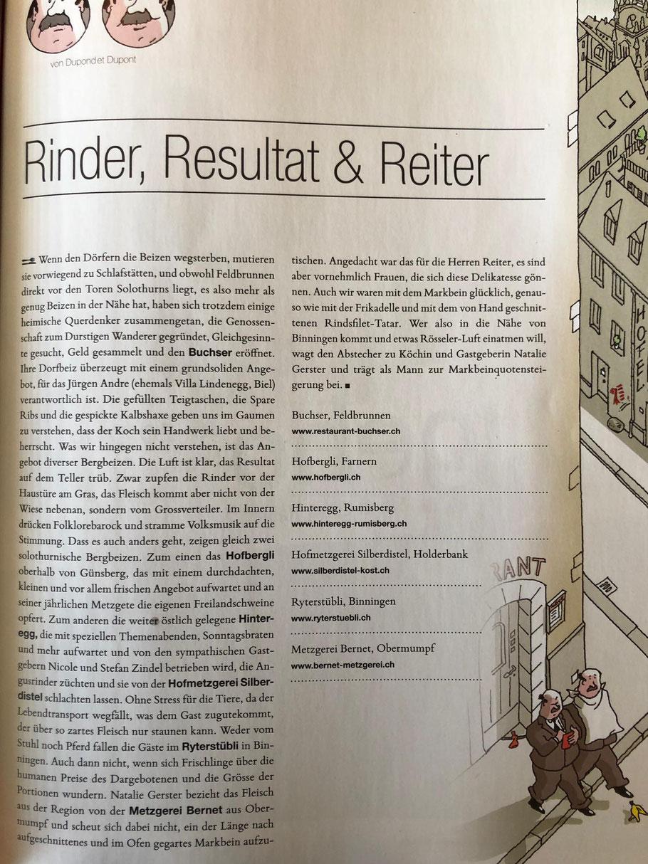 Salz&Pfeffer Salz und Pfeffer Restaurant Ryterstübli Binningen Basel Ryterstuebli