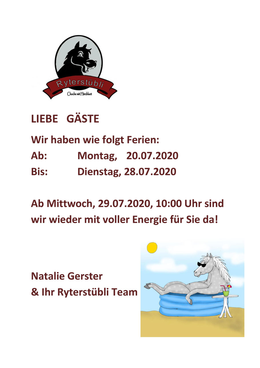 Ferien 2020 Basel, Restaurant Ryterstübli, Urlaub, Sommerferien