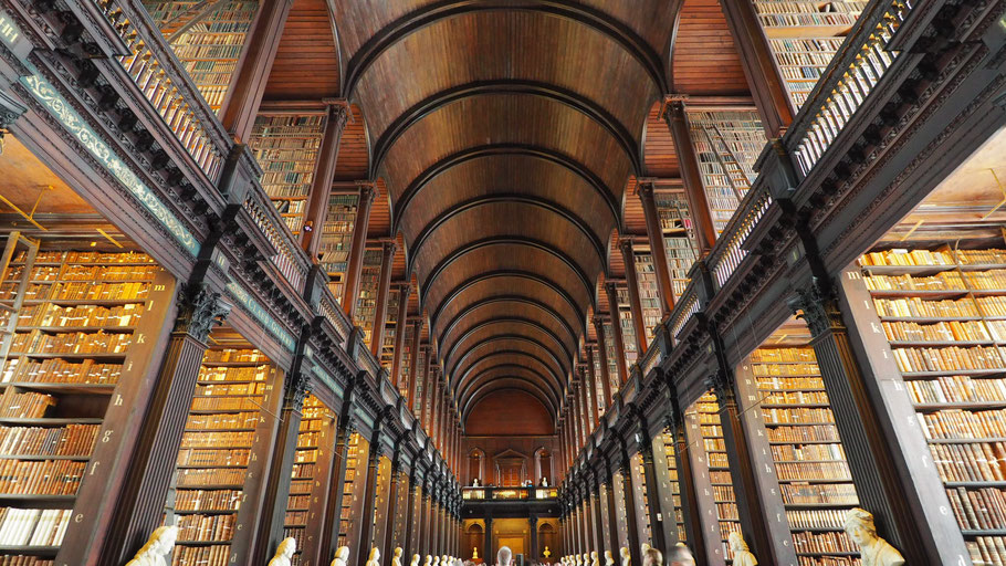 Long Room of Trinity College Library. Photo by RK.