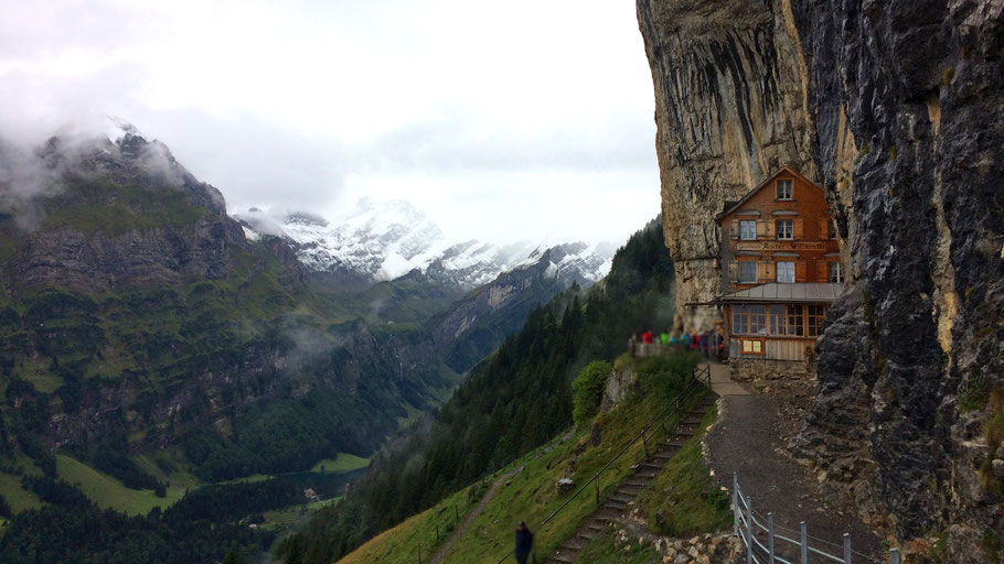 Berggasthaus Aescher-Wildkirchli. Photo by TC.