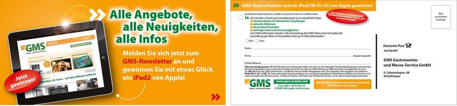 Mailing zur Anmeldung zum Online-Newsletter GMS GmbH