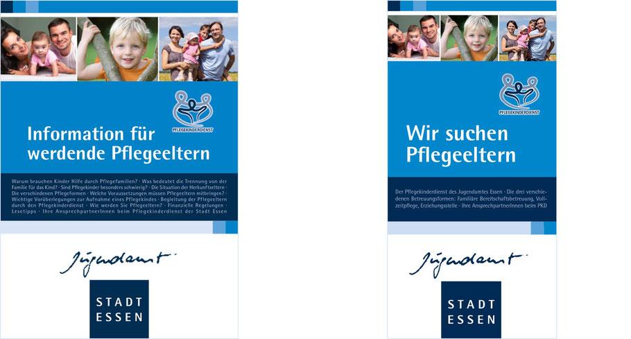 Informationsbroschüren Pflegekinderdienst Jugendamt Stadt Essen