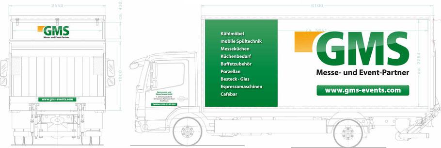 LKW Beschriftung GMS GmbH