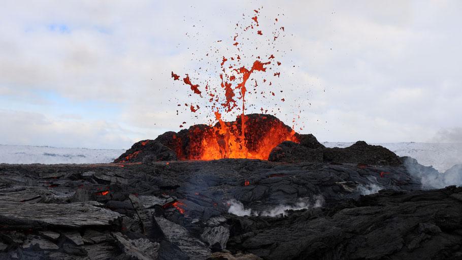 Vulkan Fagradalsfjall auf Island. © Toby Elliot auf Unsplash.