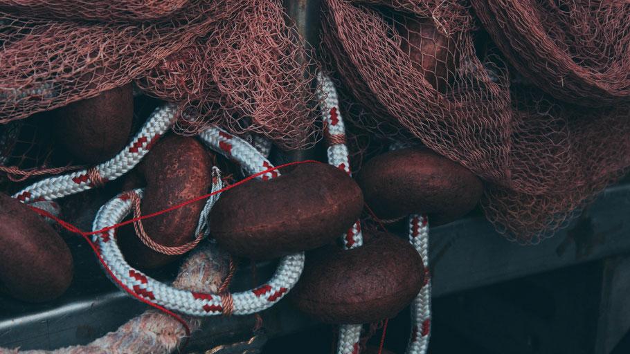 Fischernetz. Bild von Manual Sardo auf Unsplash.
