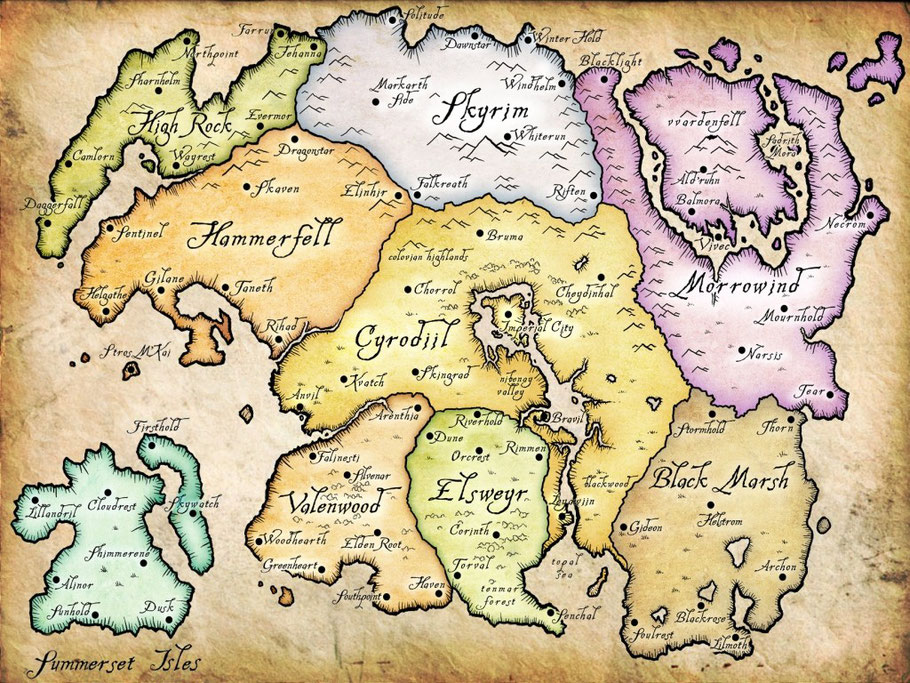 The Elder Scrolls: Tamriel - Landkarte