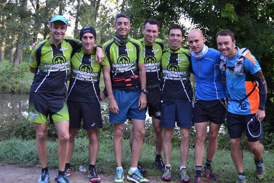 De gauche à droite : Jérôme Bonnaudet, Nicolas Tabareau, Matthias Jaulin, Jean-Guillaume Dupuy, Julien Cougnaud, Maxime Sarrazin, Christophe Dain