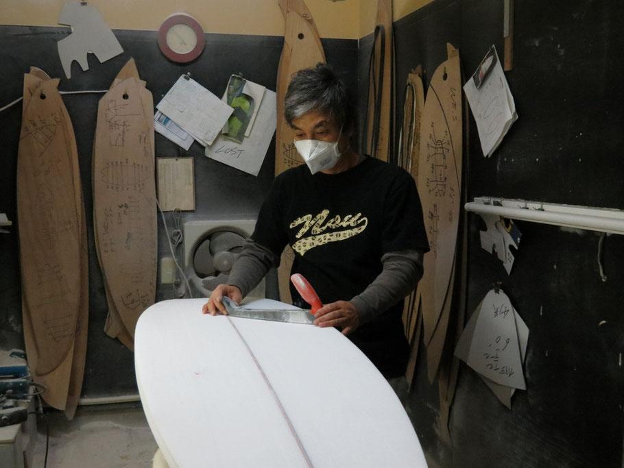CREW surfboard オーナーシェーパー 笹岡 薫氏